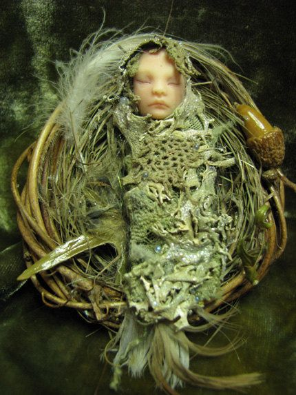Sleeping Fairy Hand-sculpted OOAK Art Doll Sculpture ADO TEAM