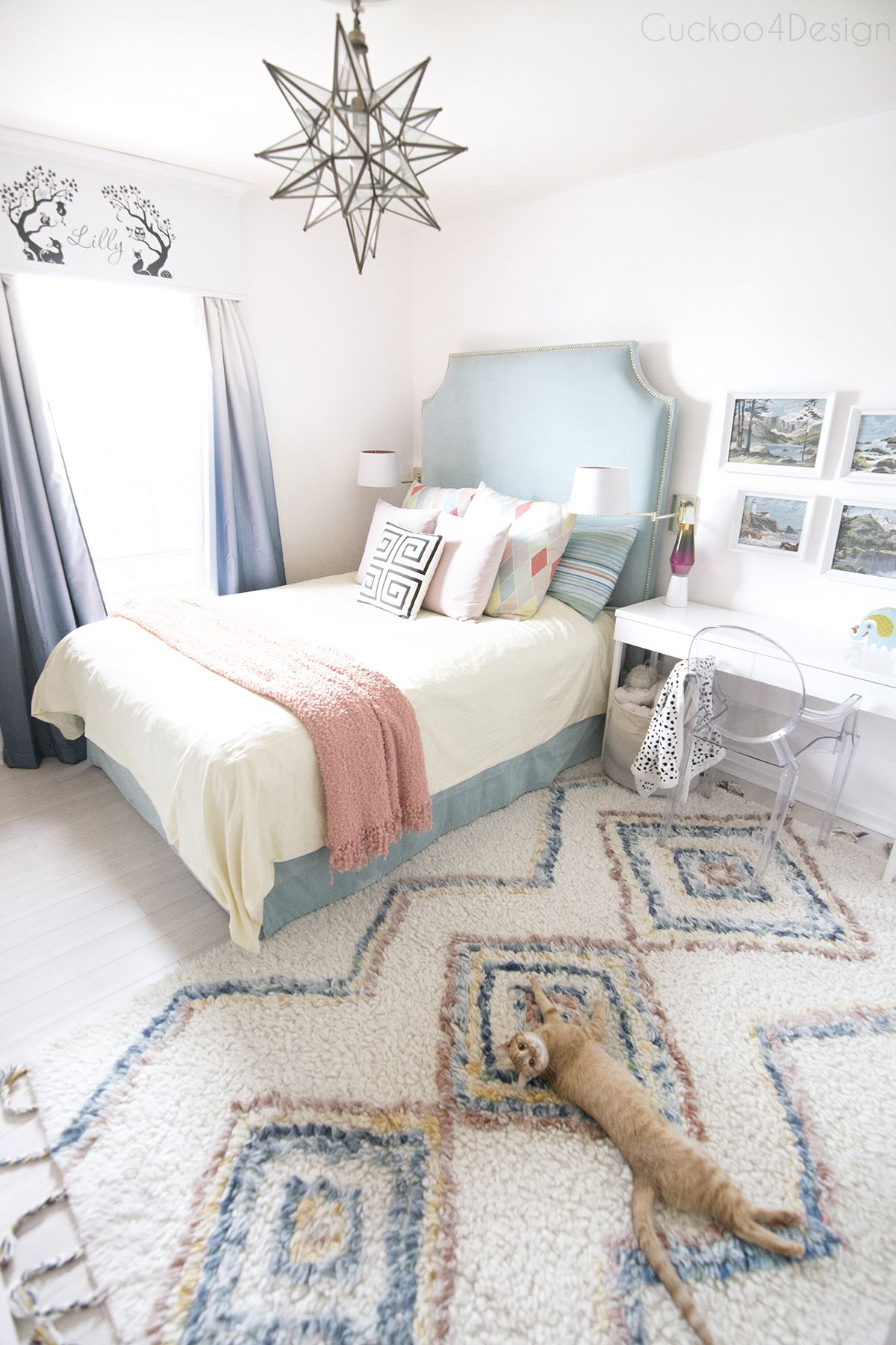 A New Beautiful Rug For My Daughter Cuckoo4design Girls Blue Bedroom Bedroom Themes Girl Bedroom Decor