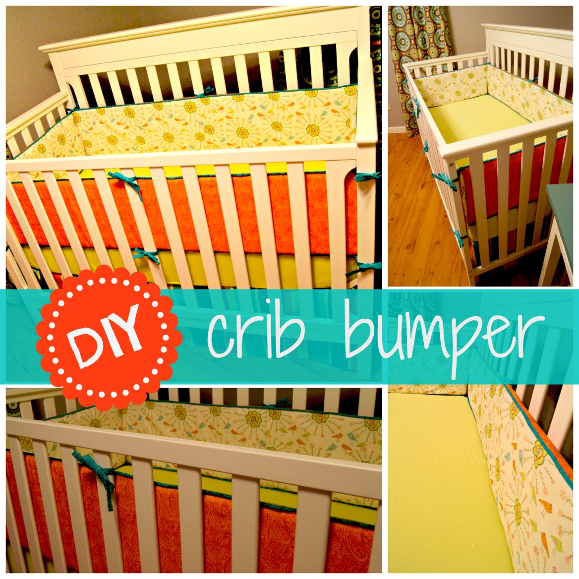 DIY Crib Bumpers with Piping and Ties | Diy crib, Baby ...