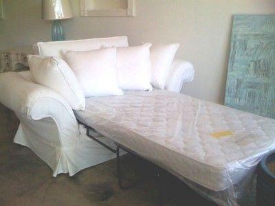 Shabby Chic Grace Slipcovered Twin Sleeper Sofa Vintage Hawaiian