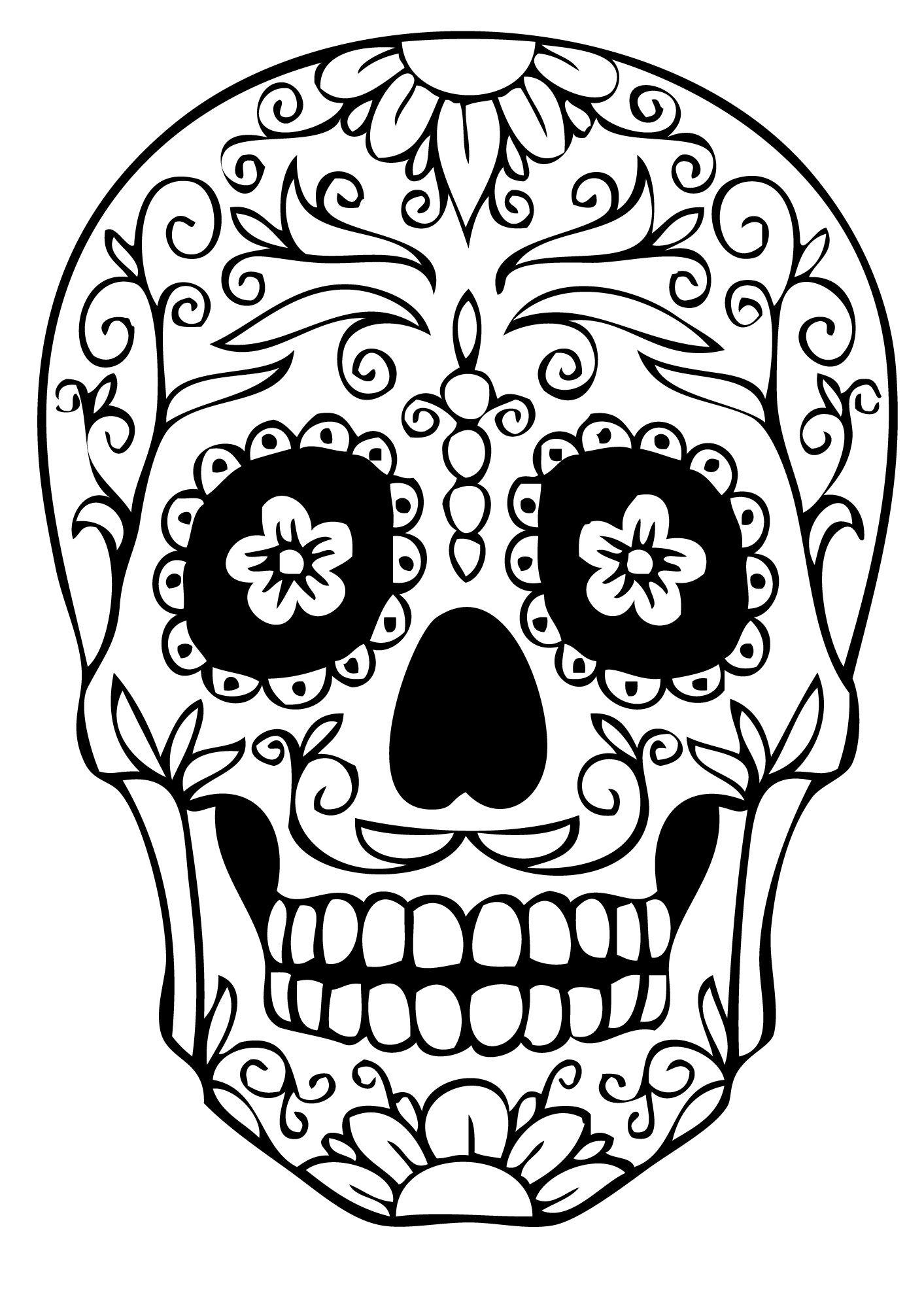 26 Plus Récent Coloriage Dia De Los Muertos Images  Coloriage tête