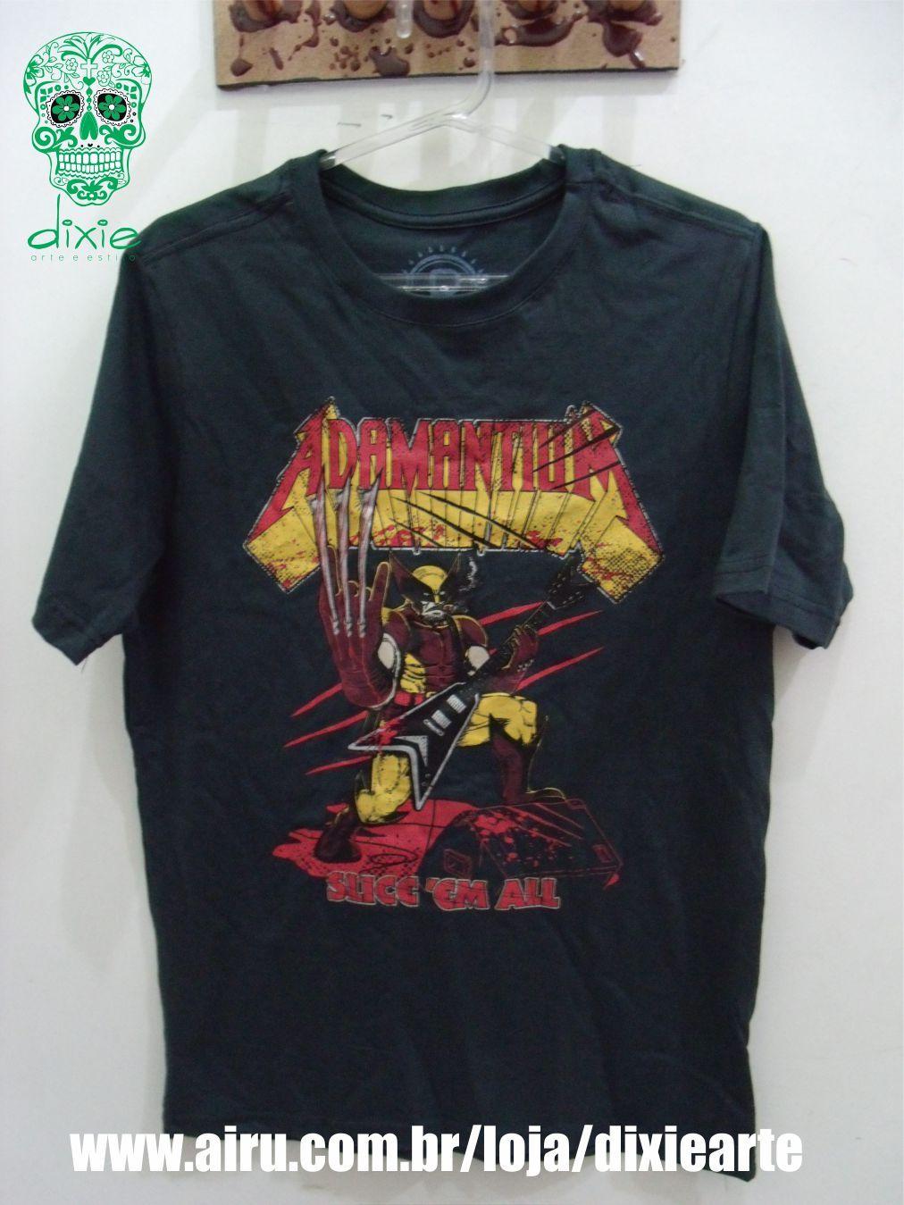 Camiseta Masculina Adamantium   www.airu.com.br/loja/dixiearte