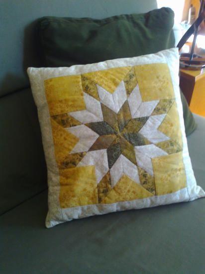 Cojin estrella de ohio cojines patchwork telas patch guata - Cojines de patchwork ...