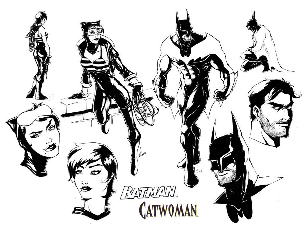 batman and catwoman colouring pages (page 3) | coloring 3 | Pinterest