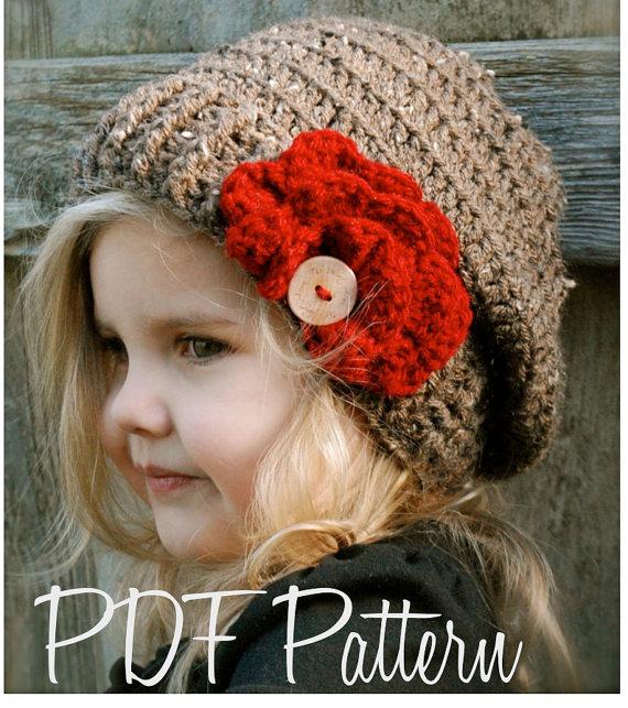 Crochet PATTERN-The Scarlett Slouchy (Toddler, Child, Adult sizes ...