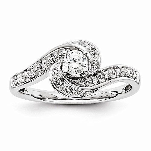 Engagement Rings No Stone: 14k White Gold Semi-Mounting Diamond Engagement Ring, No
