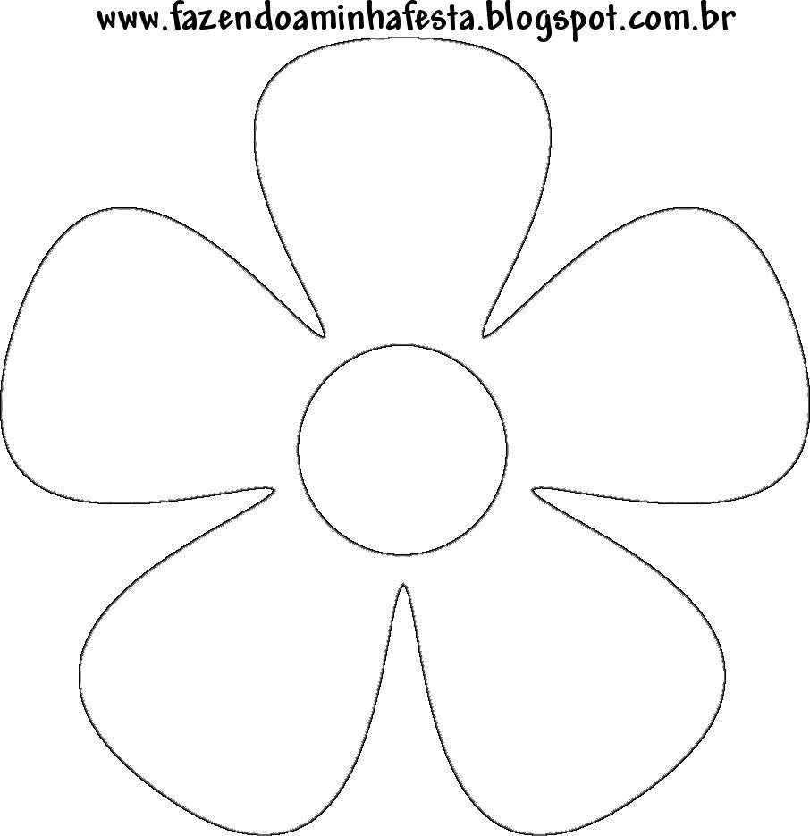 Moldes De Flores Para Imprimir 6 Dibujos Pinterest