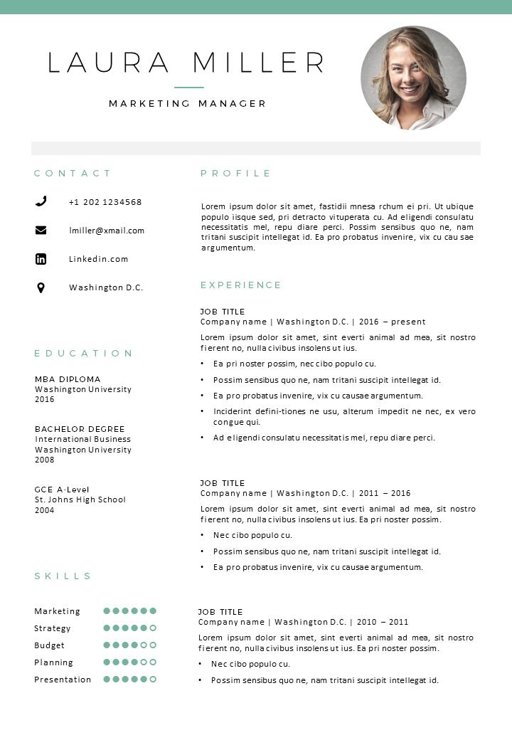 Wonderbaar Word Resume Template Denali (met afbeeldingen)   Cv sjabloon IW-29