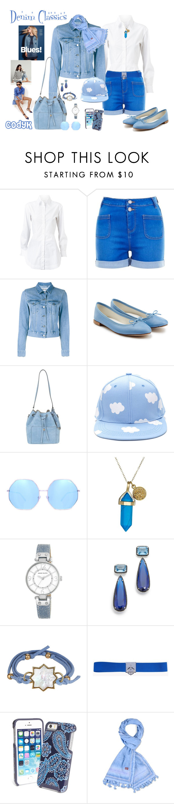 """Denim Classics"" by cody-k ❤ liked on Polyvore featuring Alaïa, Acne Studios, Repetto, J.Crew, Michael Kors, Quay, Dee Berkley, Anne Klein, Jarin K and Asha by ADM"