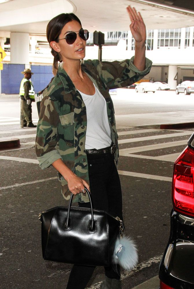 Lily Aldridge. Givenchy Antigona Bag. $ 2,225 Via Net-A-Porter.