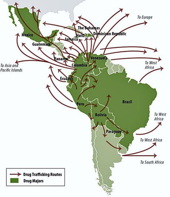 Maps Of Drug Flow Into The United States Supply Chain - Us latin america map
