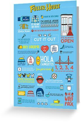Fuller House Quotes Greeting Card & Postcard by WhiteRabbitNZ