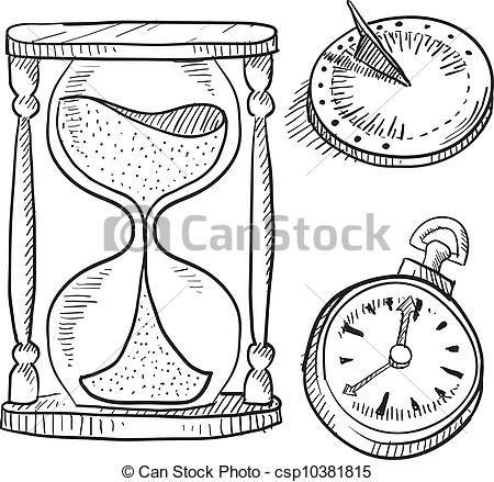 Vector.Reloj de arena, reloj de sol, cronómetro. | Reloj de arena ...