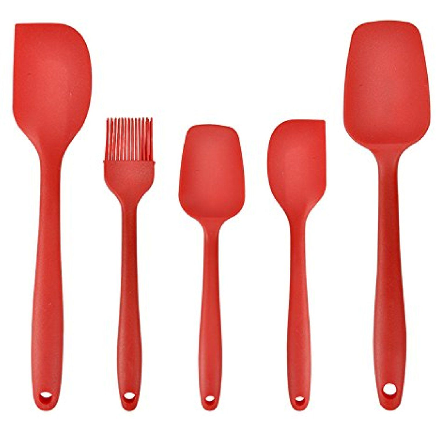 5 Kitchen Utensils Cooking Tools Eco Tableware Silicone Spoon