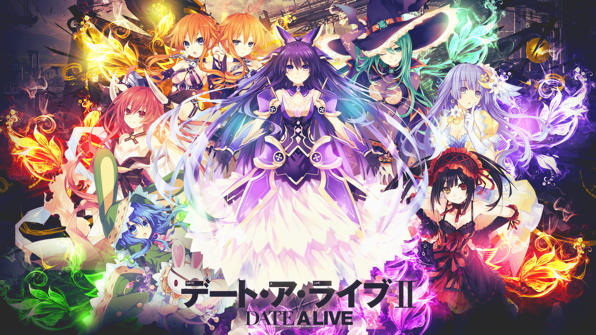 All Of The Girls From Date A Live 1920x1080 Need Iphone 6s Plus Wallpaper Background For Iphone6splus Follow Anime Date Anime Wallpaper Date A Live