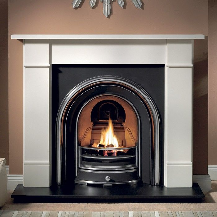 Gallery Brompton Stone Fireplace with Jubilee Cast Iron Arch - Solid Fuel Fireplaces - Fireplace Packages - Fireplaces Are Us