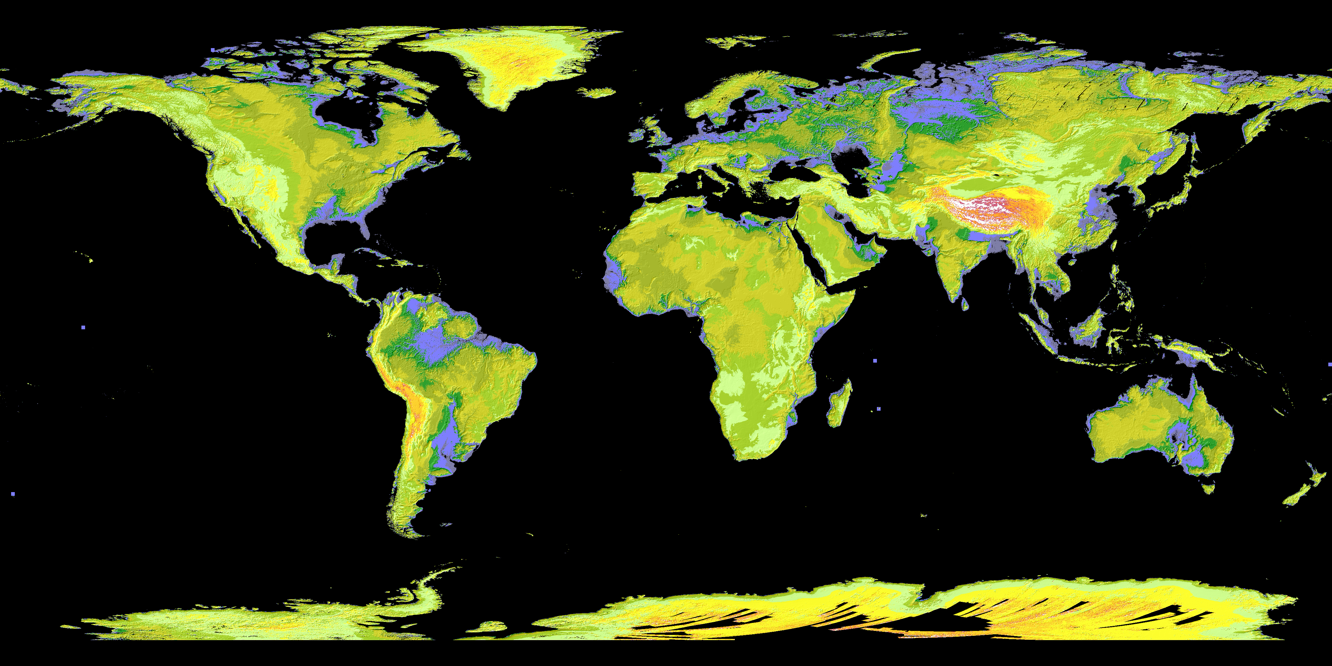 Earth from space 15 amazing things in 15 years digital elevation global digital elevation model map 15 views of earth from space gumiabroncs Choice Image