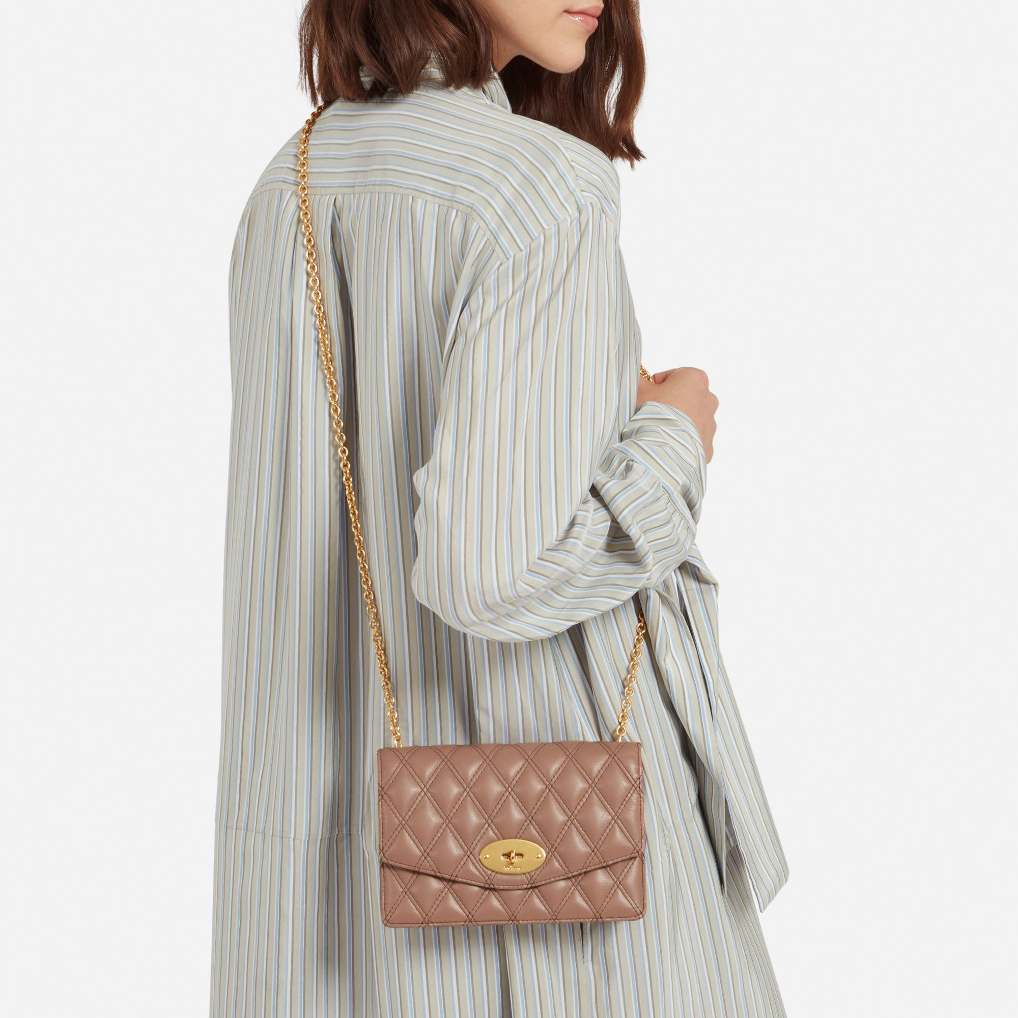 hot sale online pretty nice wholesale dealer Shop the Small Darley Bag in Dark Blush Quilted Smooth Calf ...