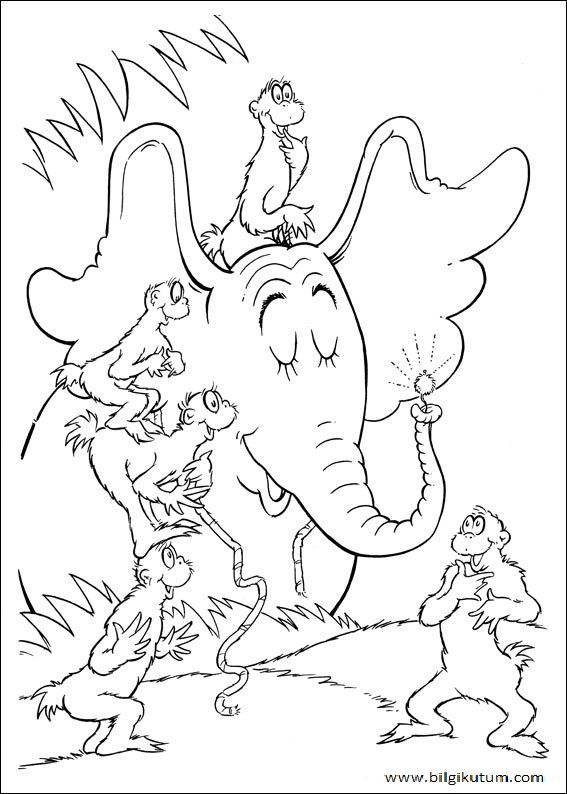 Horton hears a who coloring pages to print dr seuss for Dr seuss coloring pages horton hears a who