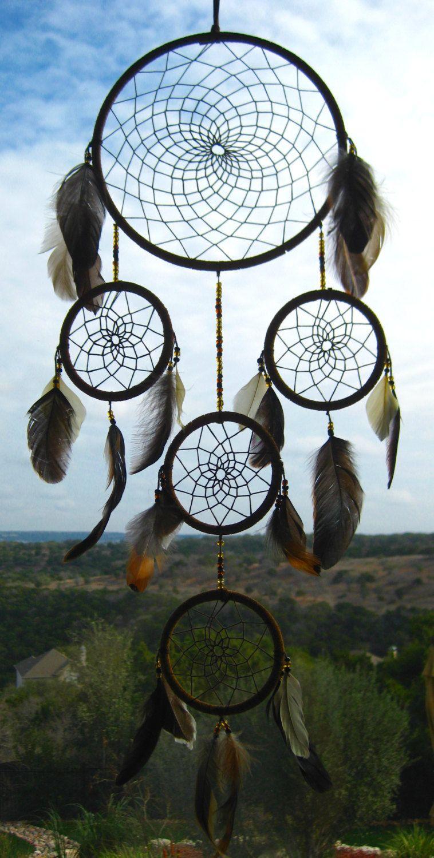 Five ring dreamcatcher with sun etsy dream catcher