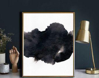 Abstract Painting Art Print, Printable Art, Minimalist Art, Brush Stroke Art,  Home