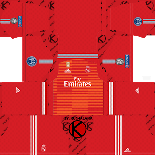 more photos cebde 0a486 Real Madrid 2018/19 UCL Kit - Dream League Soccer Kits ...