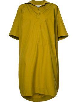 oversized V-neck dress