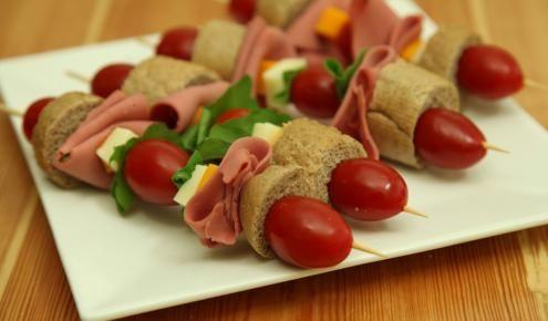 طريقة عمل سندويشات بالعيدان Sandwich Sticks Easy Dishes Appetizers For Party Food