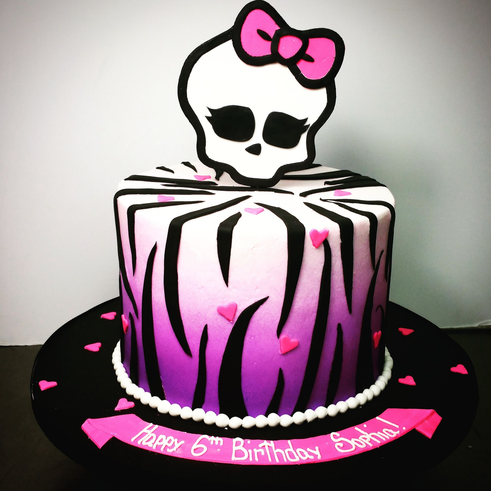 Superb Buttercream Monster High Birthday Cake With Images Monster Funny Birthday Cards Online Fluifree Goldxyz