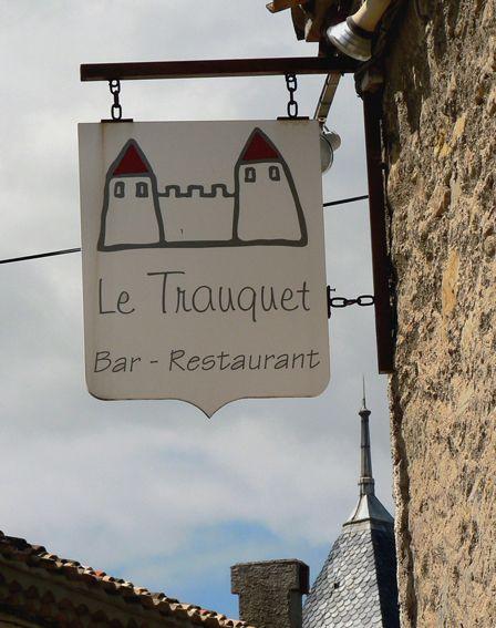 Restaurant sign - Carcassonne, France