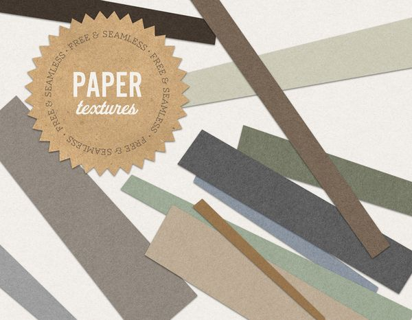Free Seamless Paper Textures by Jessica McCarty, via Behance