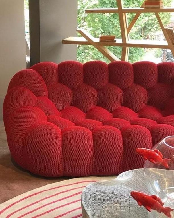Roche Bobois Op Instagram Radiantly Red Bubble Sofa Designed