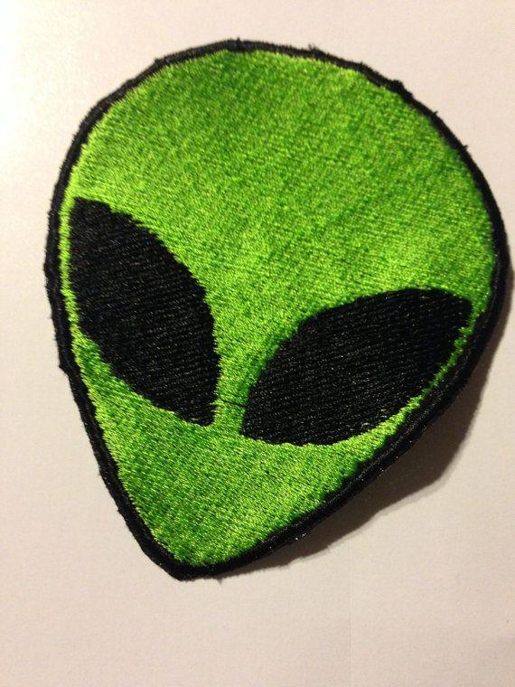 dise/ño de Extraterrestre Aguacate Parche termoadhesivo para la ropa