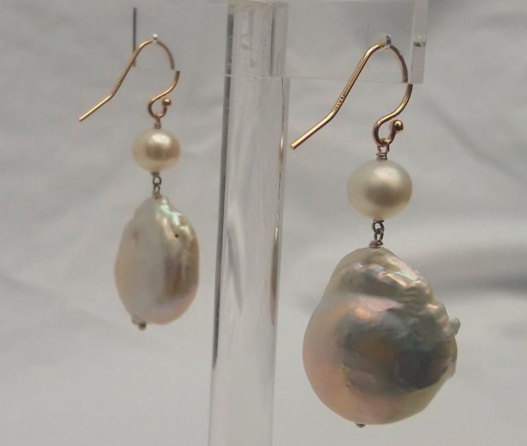 Marina J. Pearl, Gold Hook Earrings 3