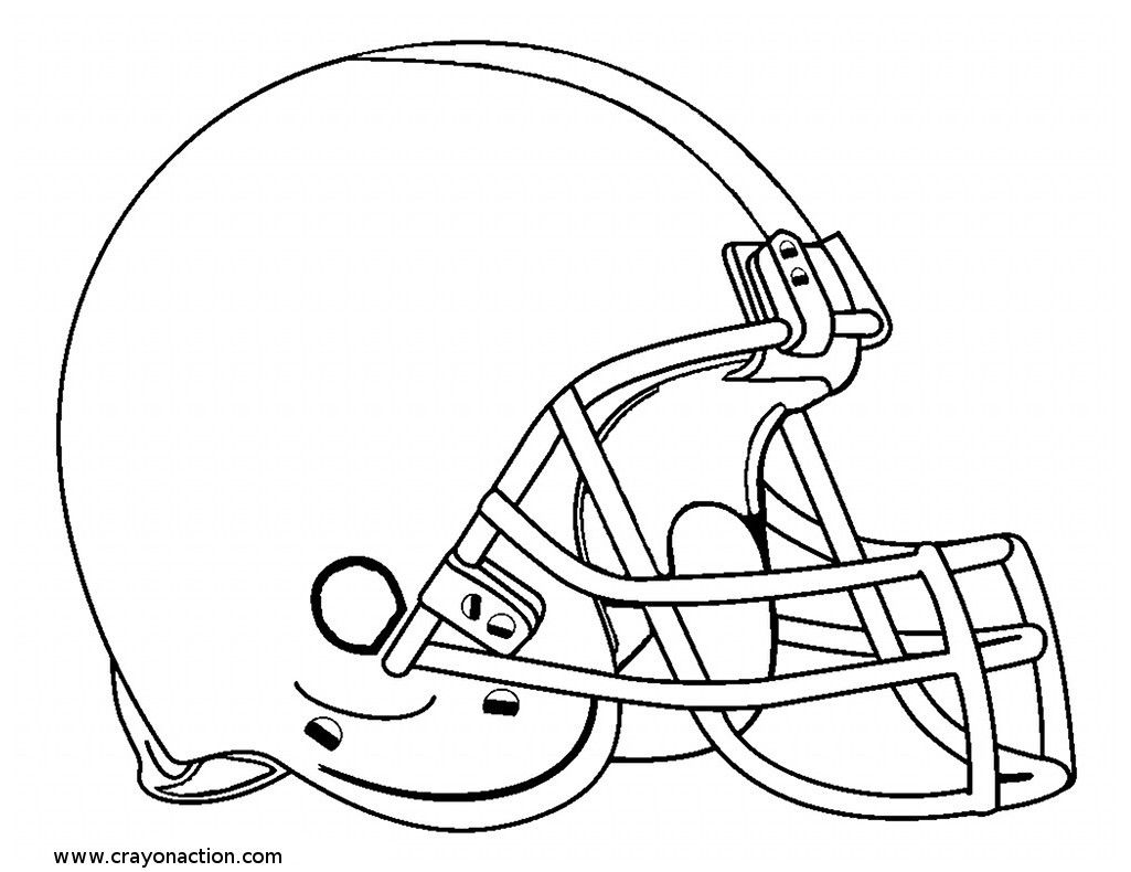 Football Helmet Coloring Pages 01