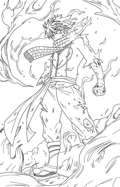 Fairy Tail Natsu Dragneel Coloring Pages Fairy Tail Art Fairy