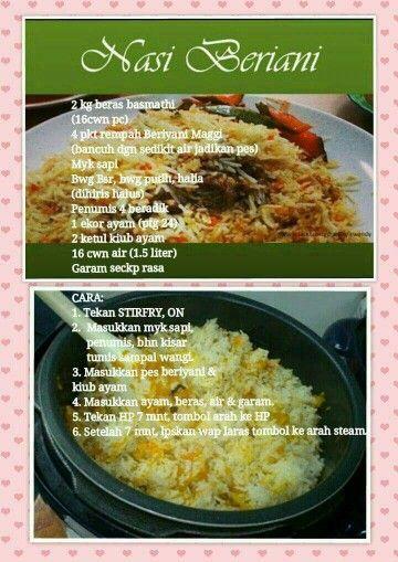 Nasi Beriani Recipes Curry Recipes Cooking