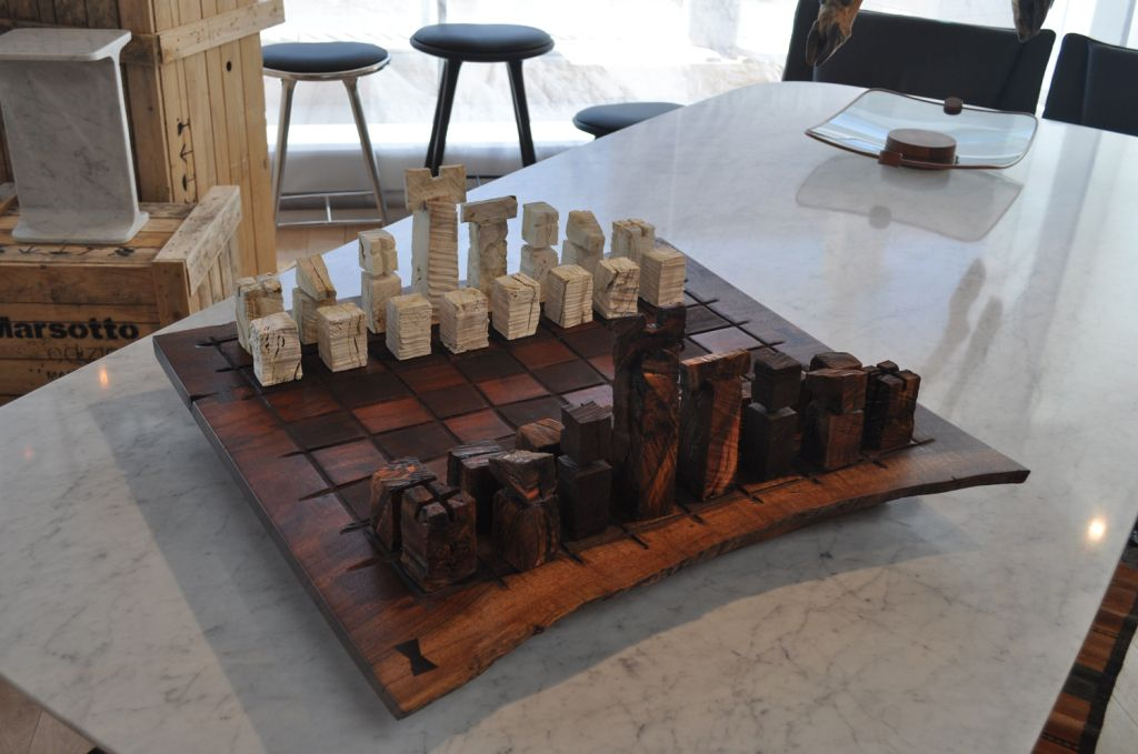 Chess Board Game by Richard Patterson | From a unique collection of antique and modern games at http://www.1stdibs.com/furniture/more-furniture-collectibles/games/