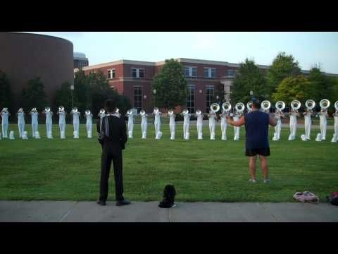 Phantom Regiment warm up. It doesn't sound like much at the beginning, but wait until :37 seconds.