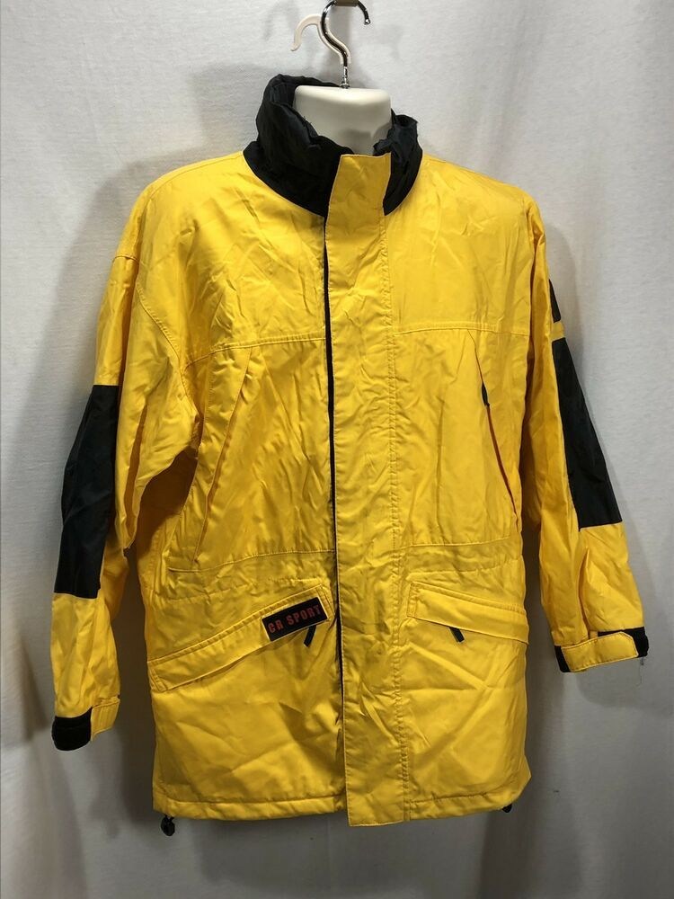 Vintage Men Small Christopher Rand Yellow Jacket Coat Wind Breaker Navy Blue Christopherrand Windbreaker Vintage Men Coats Jackets Mens Windbreaker
