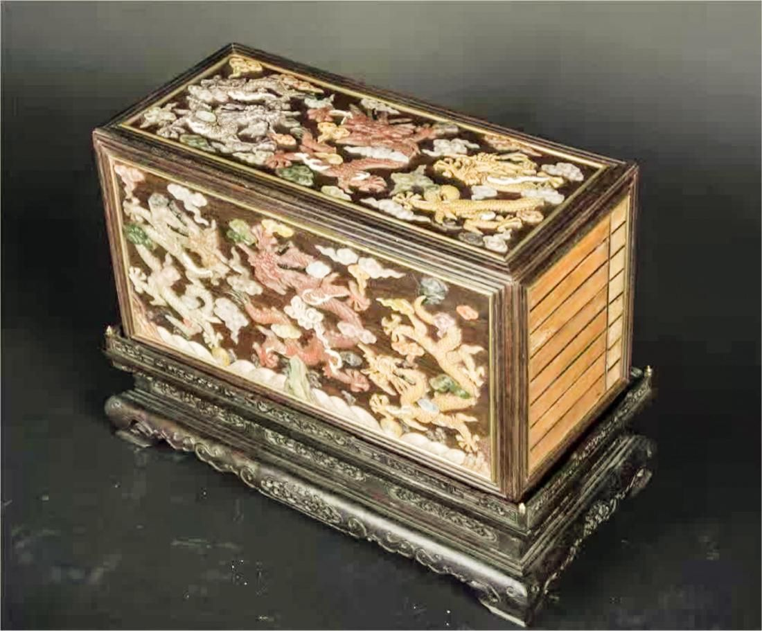 Key Jewelry Boxes Rare Art Noveau Antique Gilt Filigree Jewellery Box Erhard & Sohne C1910