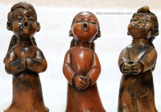찬양하는 여자아이 천사/독일작품초/Engel/Beeswax candle