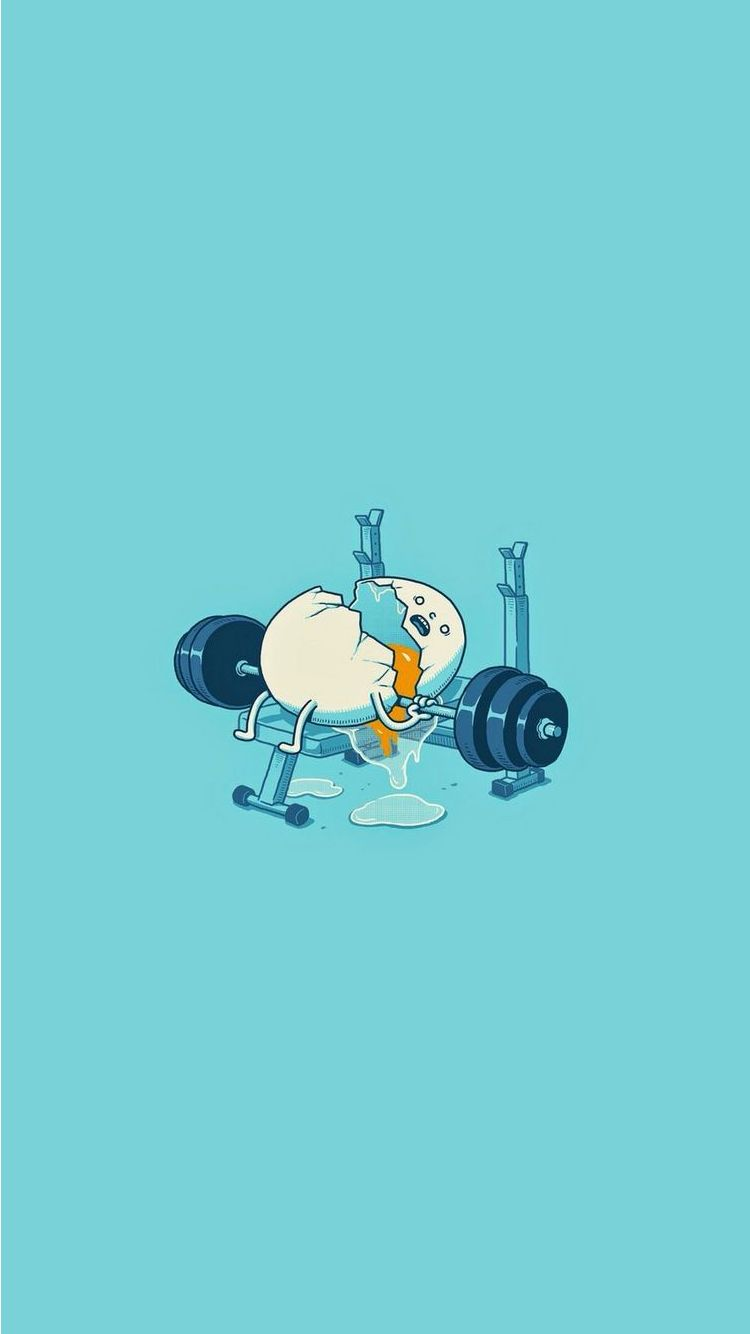 Egg Workout Accident Funny iPhone 6 Wallpaper