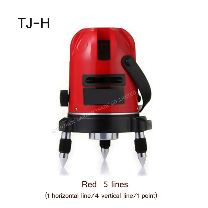 1pc Vertical Horizontal Line Cross Laser Level Tj H Rotate 360degree Self Leveling Red 5 Lines 1 Point Laser Level Laser Levels Horizontal Cross Laser