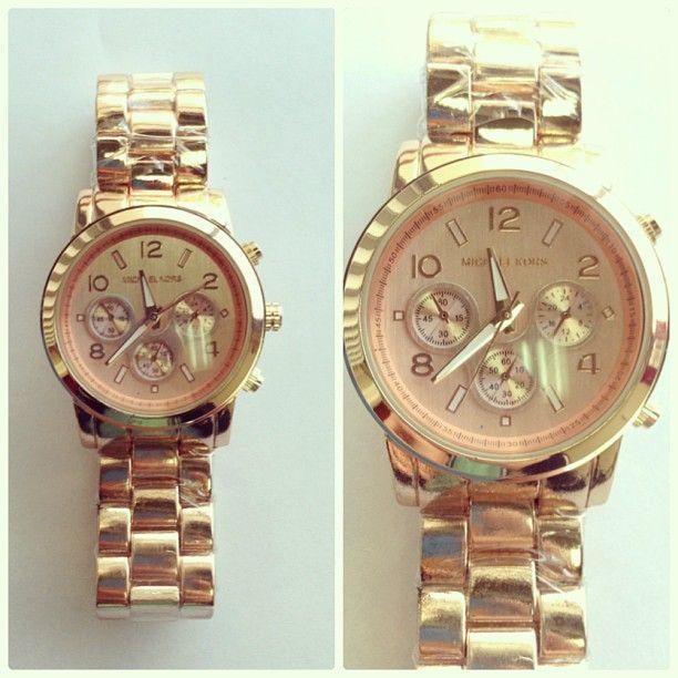 66c336c9c847 Reloj Imitación Michael Kors dorado rosa Precio  25.000