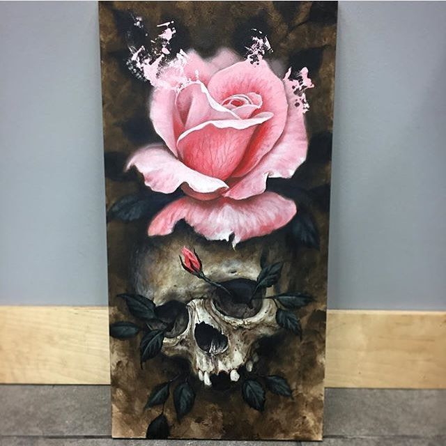 Awesome artwork by #dominicholmes_art #inkedmag #freshlyinkedmag #freshlyinked #art #artwork #skull