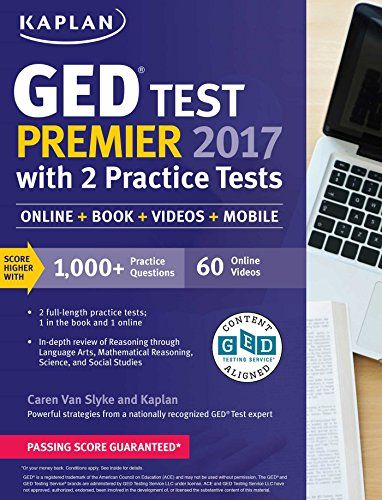 Ged test premier 2017 with 2 practice tests online book videos ged test premier 2017 with 2 practice tests online book videos mobile kaplan test prep fandeluxe Choice Image