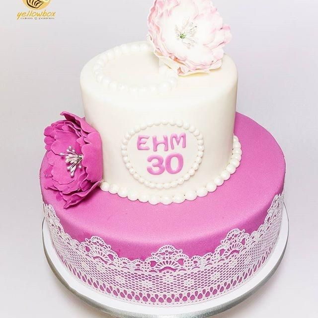Pink and White Flower Cake by Yellow Box - Cakes & Pastries