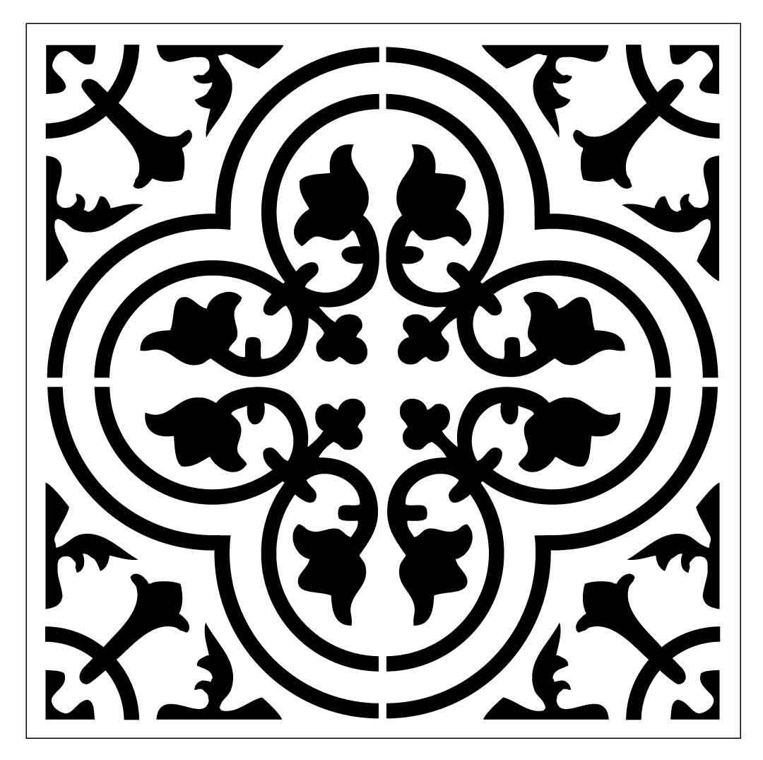 Reusable Laser Cut Large Floor Or Wall Tile Stencil 30