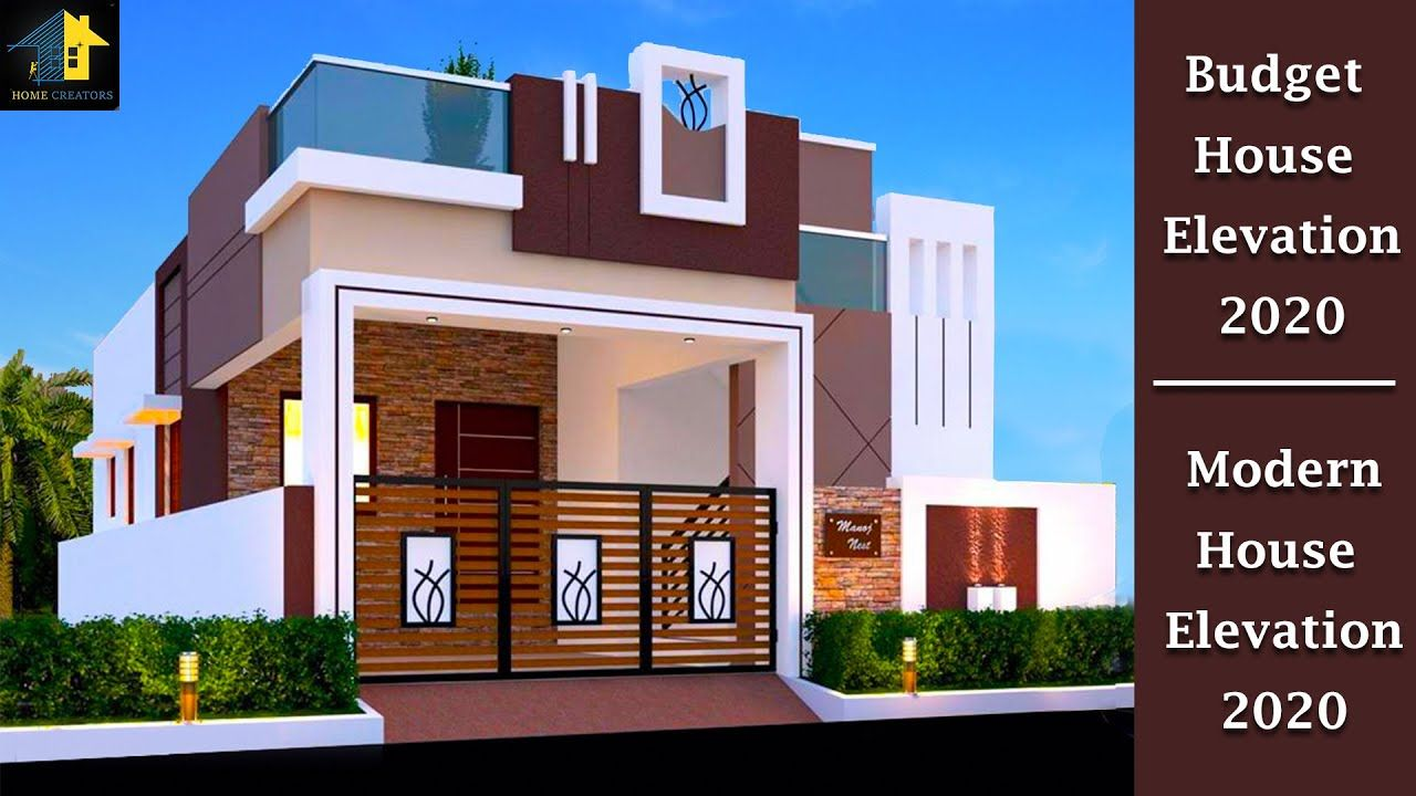 Simple Indian House Front Elevation Designs 2020 Budget House Elevation In 2020 House Front Design Front Elevation Designs Home Building Design